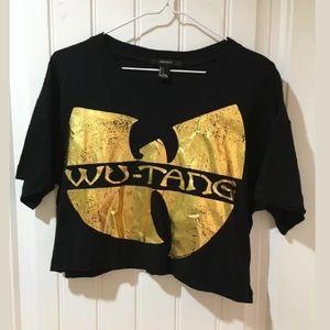 Wu Tang Gold Foil Crop Top Tee Small